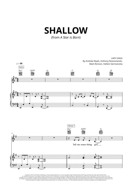 Shallow From A Star Is Born Original Version