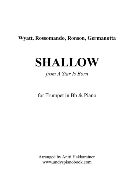 Shallow From A Star Is Born Trumpet Piano