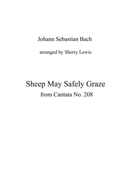 Sheep May Safely Graze String Trio For String Trio