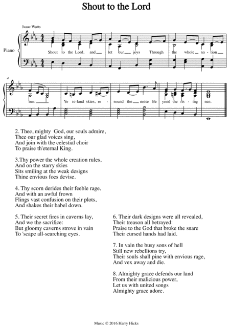 Shout To The Lord A New Tune To A Wonderful Isaac Watts Hymn