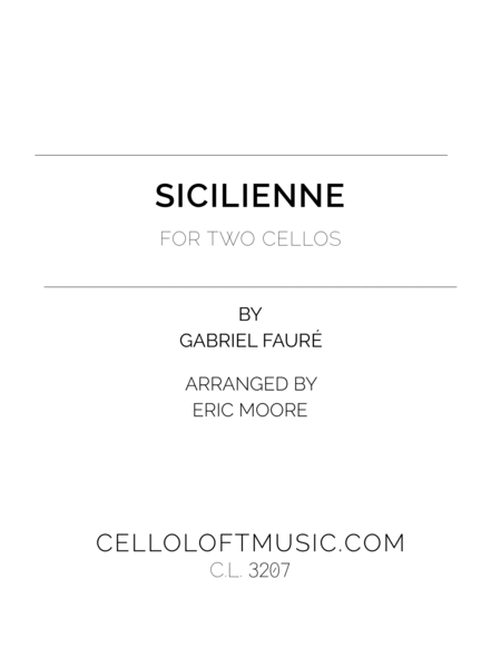 Sicilienne For Two Cellos