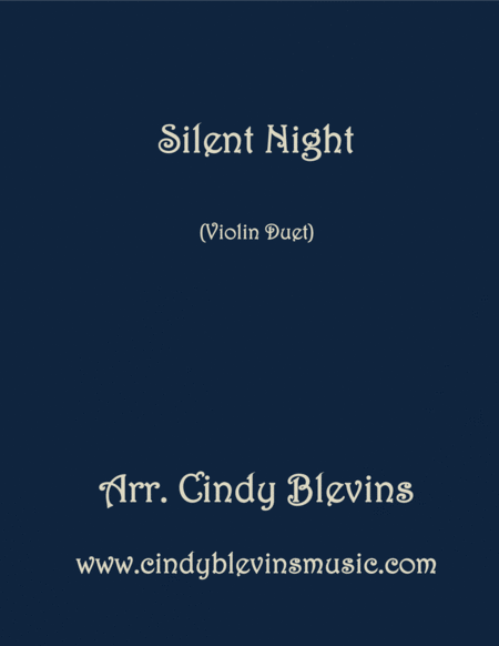 Silent Night Arranged For Violin Duet
