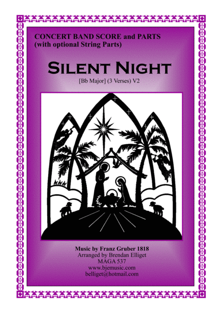Silent Night Christmas Concert Band Orchestra Score And Parts Pdf