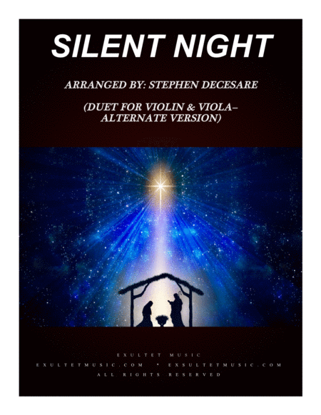 Silent Night Duet For Violin And Viola Alternate Version