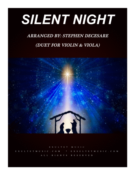 Silent Night Duet For Violin And Viola
