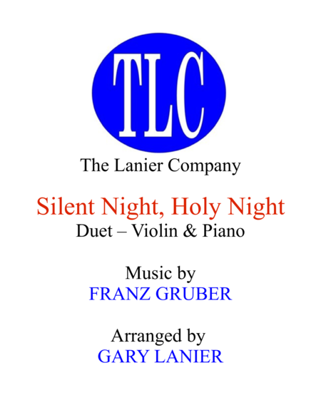Silent Night Duet Violin And Piano Score And Parts
