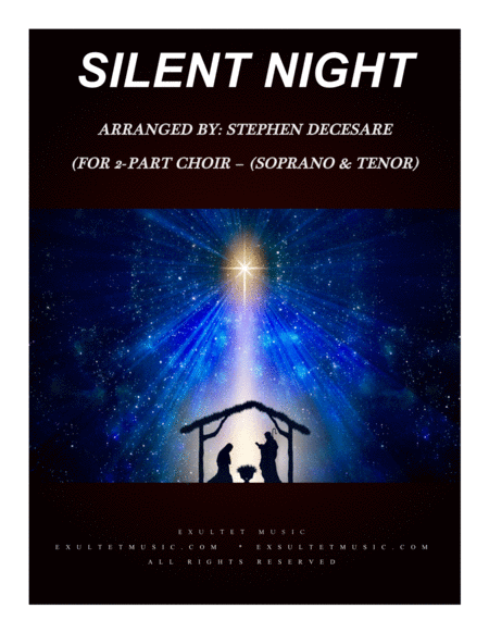 Silent Night For 2 Part Choir Soprano And Tenor