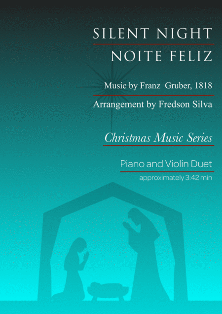 Silent Night For Piano And Violin Duet