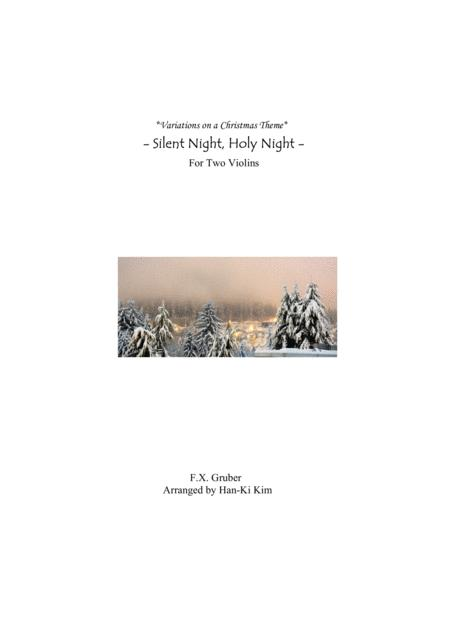 Silent Night Holy Night For Violin Duet