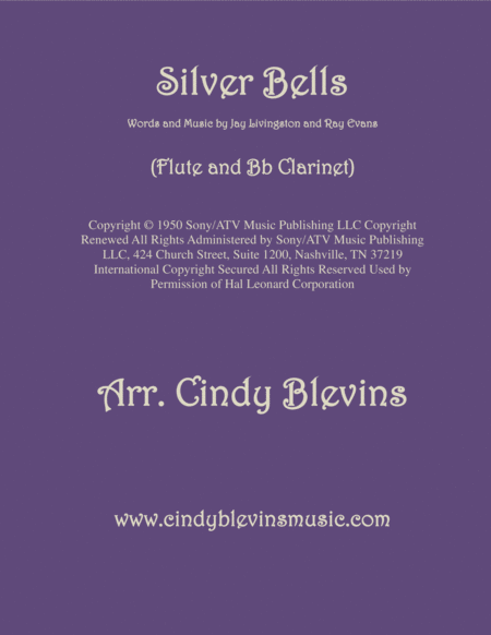 Silver Bells Arranged For Flute And Bb Clarinet