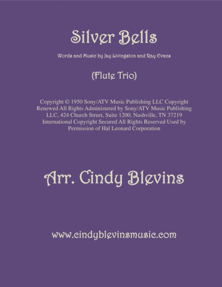 Silver Bells Arranged For Flute Trio