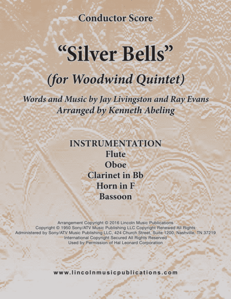 Silver Bells For Woodwind Quintet