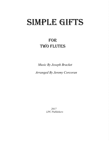 Simple Gifts For Two Flutes