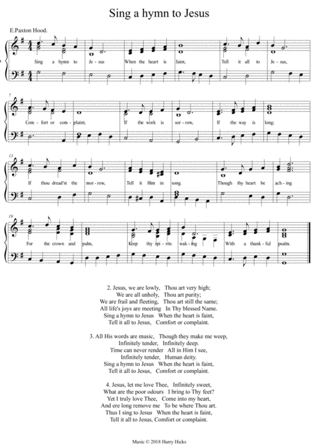 Sing A Hymn To Jesus A New Tune To A Wonderful Old Hymn