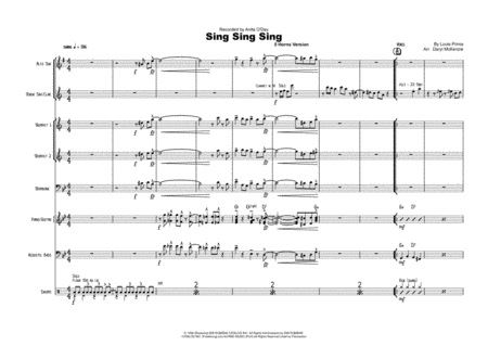 Sing Sing Sing Vocal Small Band 5 Horns Key Gm Abm