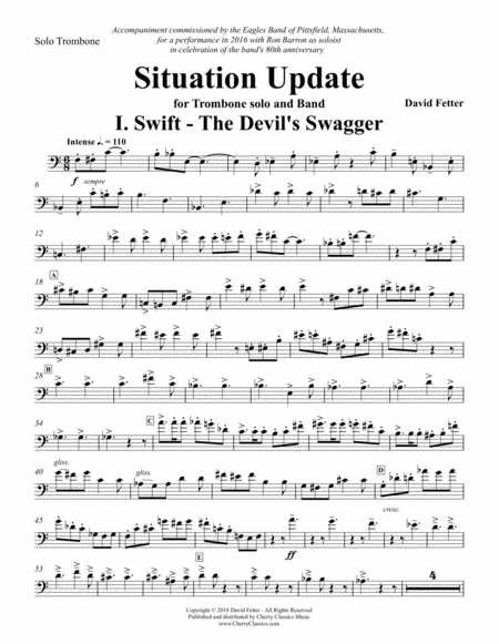 Situation Update Suite In Three Movements For Solo Trombone And Band