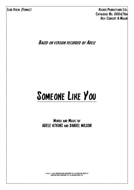 Someone Like You Vocals