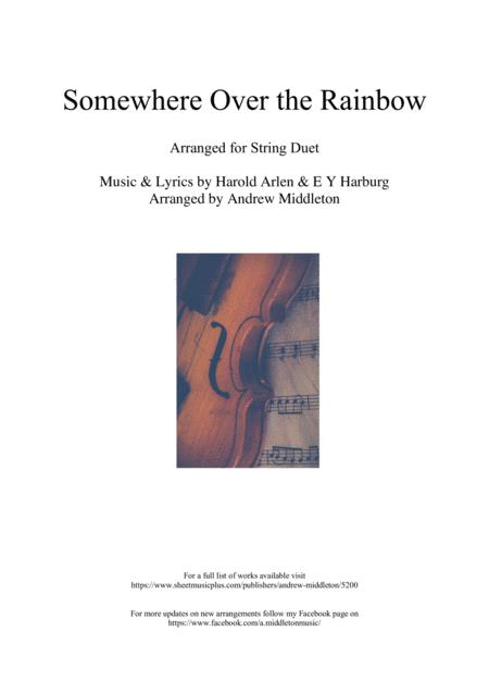 Somewhere Over The Rainbow Arranged For String Duet
