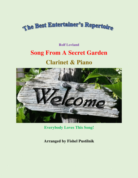Song From A Secret Garden For Clarinet And Piano Jazz Pop Version Video