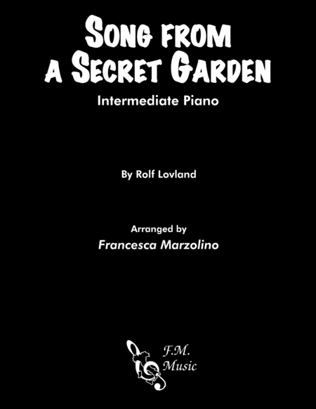 Song From A Secret Garden Intermediate Piano
