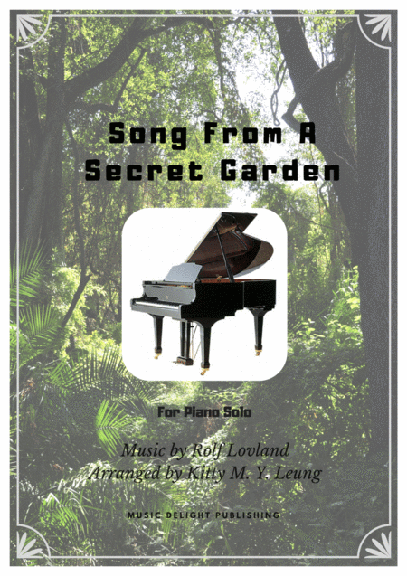 Song From A Secret Garden Piano Solo