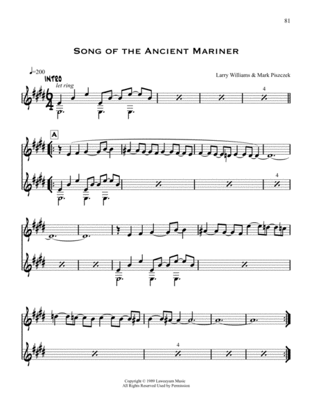 Song Of The Ancient Mariner
