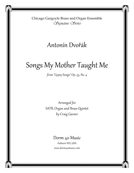 Songs My Mother Taught Me From Gypsy Songs Op 55 No 4