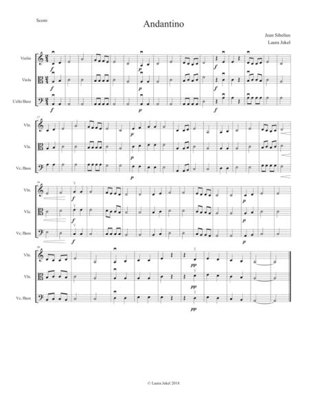 String Orchestra Arrangement Of Symphony No 3 Movement 2 By Sibelius