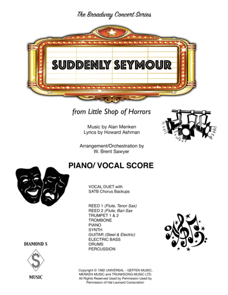 Suddenly Seymour Piano Vocal Score