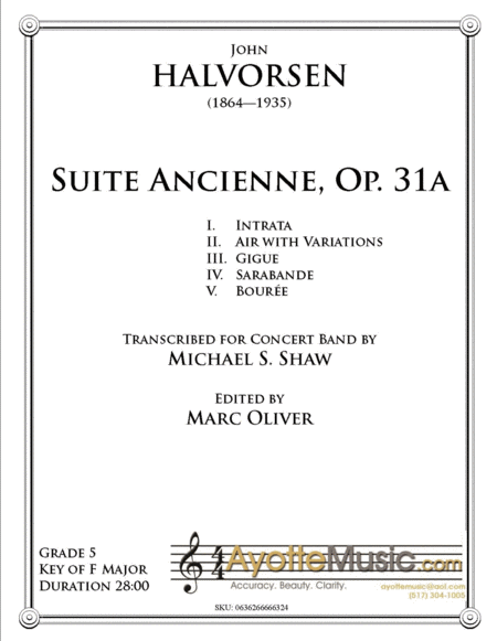 Suite Ancienne To The Memory Of Ludvig Holberg Op 31