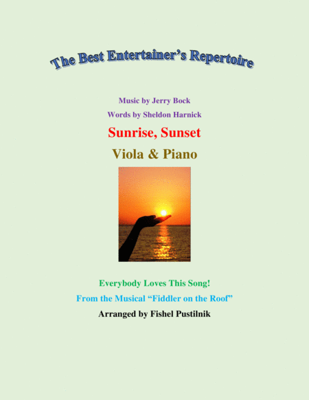 Sunrise Sunset For Viola And Piano Jazz Pop Version Video