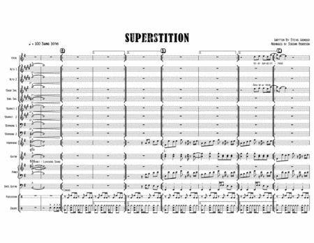 Superstition Stevie Wonder Arranged For Jazz Band Feat Voice And Or Tenor Sax