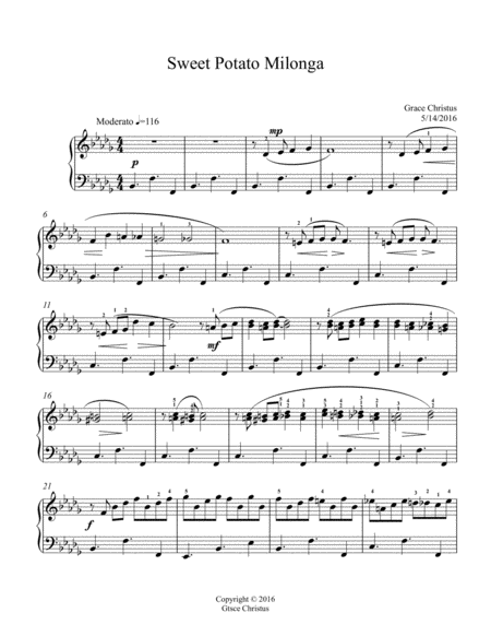 potato blues easy piano free music sheet - musicsheets.org  music sheet library for all instruments