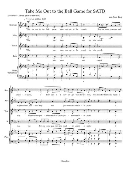 Take Me Out To The Ball Game For Satb Op 32 2