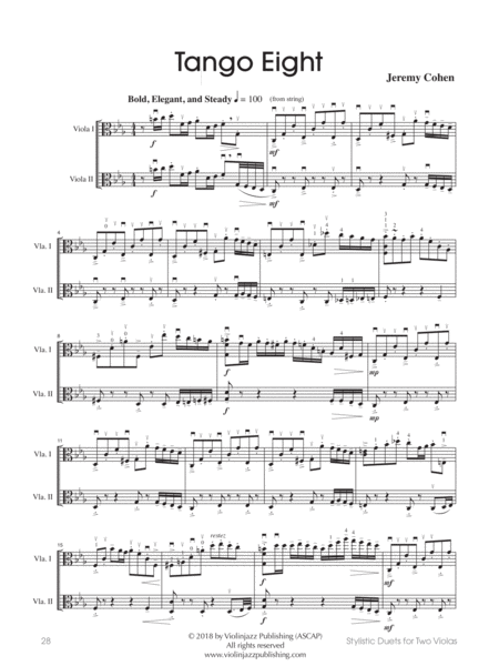 tango eight viola duet free music sheet - musicsheets.org  music sheet library for all instruments