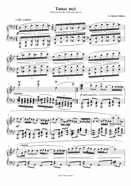 tango n 1 free music sheet - musicsheets.org  music sheet library for all instruments