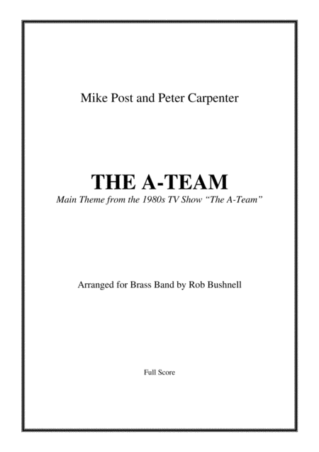 The A Team Main Theme Post And Carpenter Brass Band March Card Sized