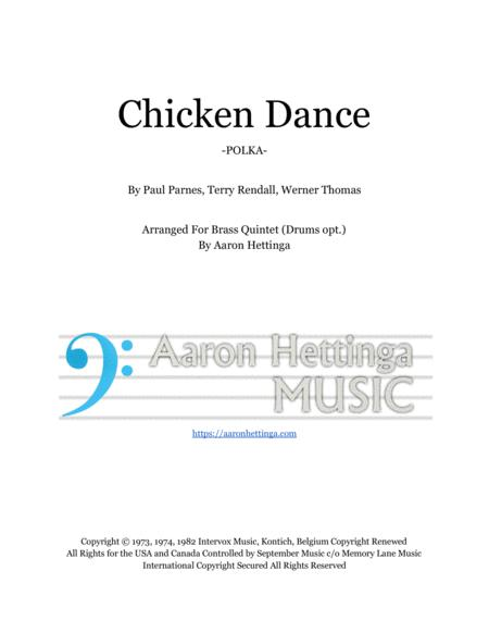 The Chicken Dance Polka For Brass Quintet Opt Drums