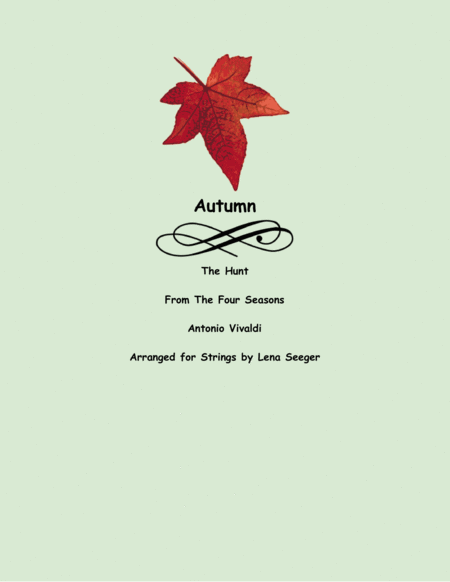 The Four Seasons Autumn Third Movement String Trio