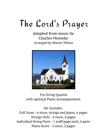 The Lords Prayer For String Quartet With Optional Piano Accompaniment