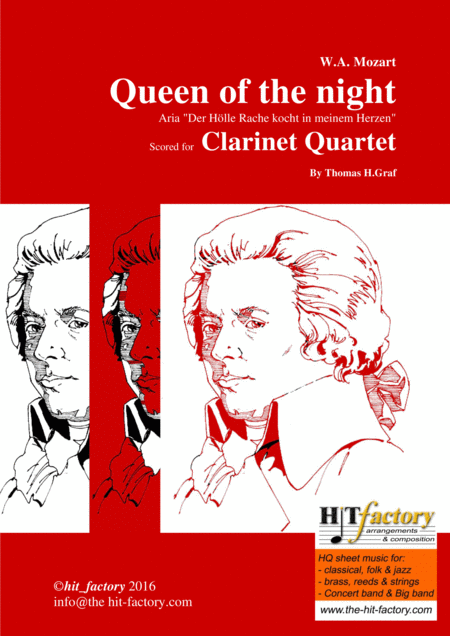 The Magic Flute Mozart Queen Of The Night Clarinet Quartet