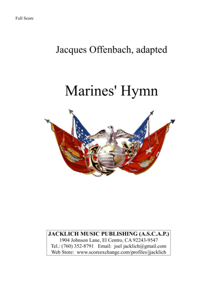 The Marines Hymn From The Halls Of Montezuma