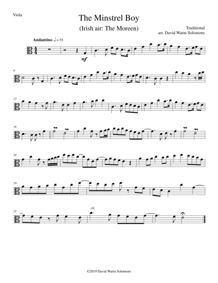 the minstrel boy the moreen for viola cello and guitar free music sheet -  musicsheets.org  music sheet library for all instruments