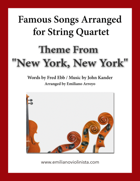 Theme From New York New York By Frank Sinatra For String Quartet