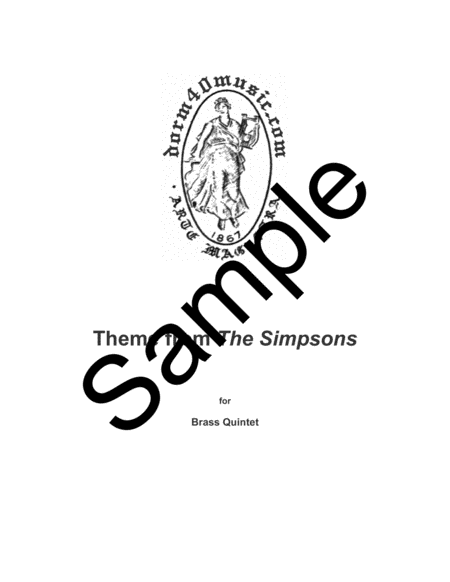 Theme From The Simpsons Tm From The Twentieth Century Fox Television Series The Simpsons