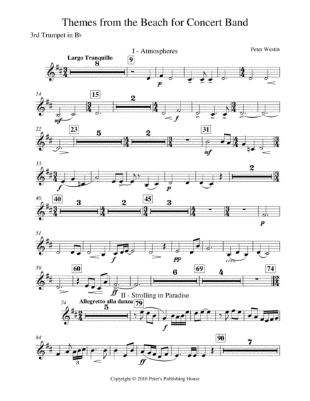Themes From The Beach 3rd Trumpet In B Flat