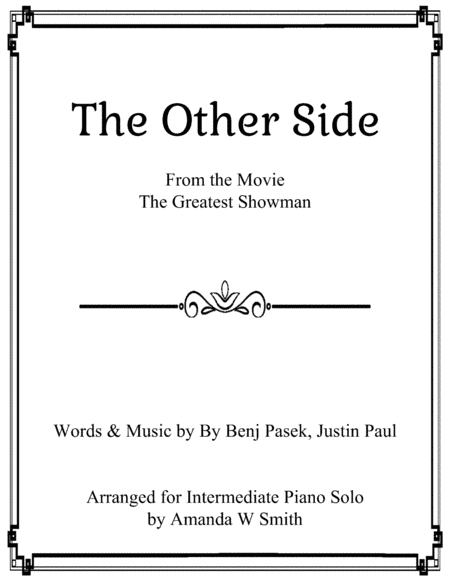 The Other Side From The Greatest Showman Intermediate Piano Solo