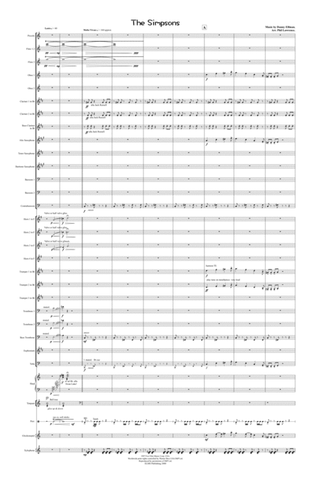 The Simpsons For Symphonic Wind Band