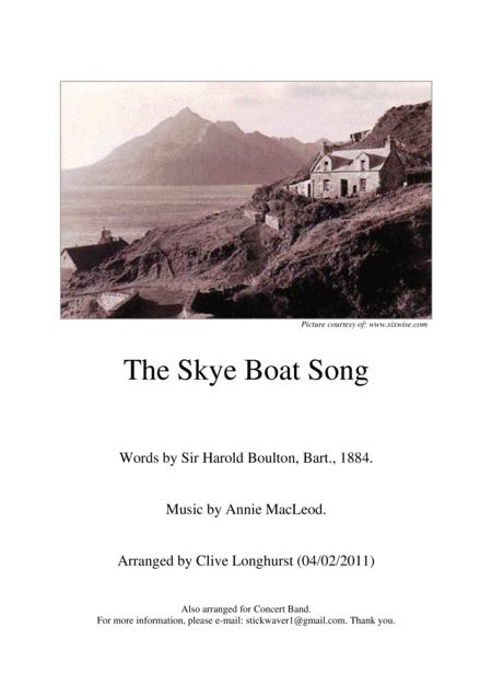 The Skye Boat Song Brass Band Parts Full Set