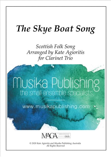 The Skye Boat Song Theme From Outlander For Clarinet Trio
